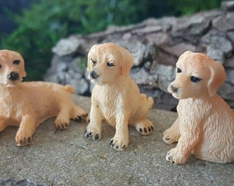 Miniature Trio of Puppies - set of 3