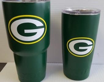 Green Bay Packers YETI 30oz Yeti Rambler Tumbler personalized or OZARK Rambler