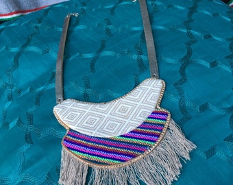 Mexican Woven Collar Necklace