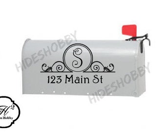 Personalized Mail Box Decals  set of 2 Monogrammed mail Box