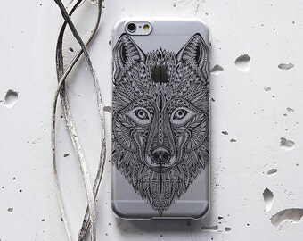 Wolf Phone Case iPod Case Clear iPhone 5 Case iPhone 6 Case Samsung Galaxy S6 Edge Phone Case iPhone 6s Animal iPhone Case Note 4 Case 114