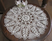 Beige Decor Crochet Lace Doily, Table Decor, Home Accessory, 18 inches diameter, Valentines gifts