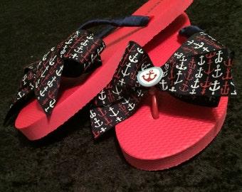 Anchor flip flops size 6