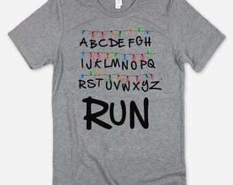 RUN Alphabet T-Shirt TV Show Horror Shirt