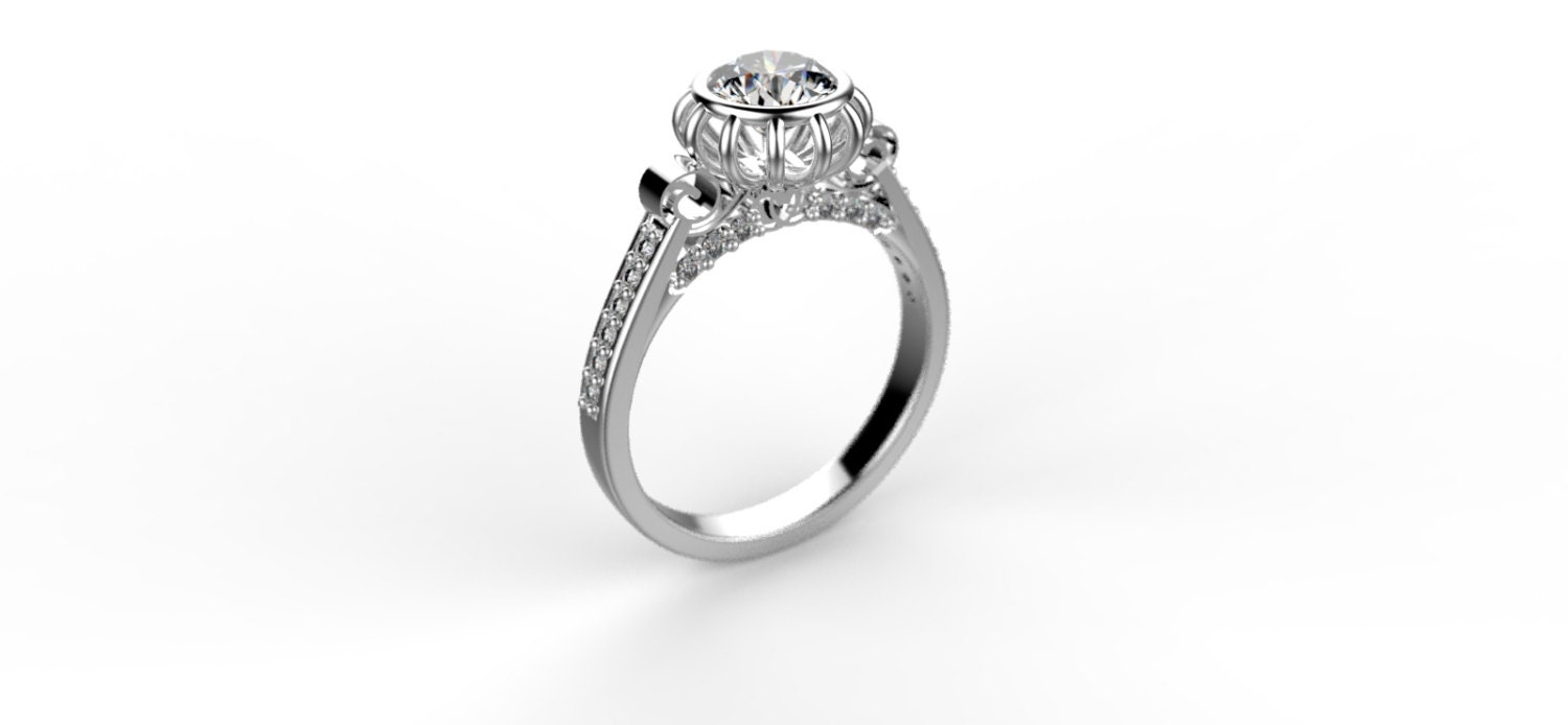 Cinderellas Carriage Engagement Ring By ShineSwapCustomRings