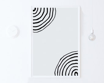 Simple Art Print, Minimalist PRINTABLE Wall Decor Print, Modern Abstract Art, DIGITAL DOWNLOAD Grey Decor, Grey Wall Art Modern Print 18x24