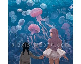 Princess Jellyfish Kuragehime Poster Print