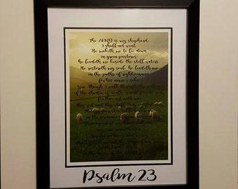 """Psalm 23 Framed 14"""" x 18"""""""