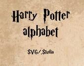harry potter font svg and studio, wizard Font, Alphabet, Cut Files, diy Files Silhouette Cricut machines instant download