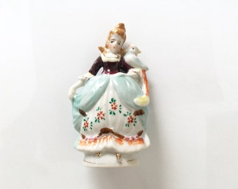 Dainty Statuette | Occupied Japan Figurine | Mid Century Decor | 1940s French Country Cottage | Housewarming Gift | Antique Collectible