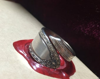 Hand Bent Size 8 Spink Spoon Ring