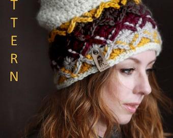 Nº170 Chunky Bavarian Beanie - Crochet PATTERN