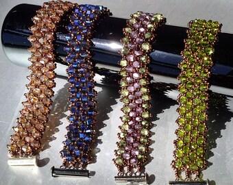 Crystal embellished bracelet - bronze