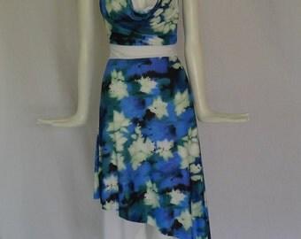 Cowl Neck Halter Tango Dress