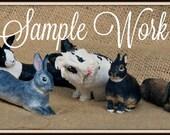 MADE TO ORDER Custom Rabbit Figurine, Custom Pet Portrait, Commission