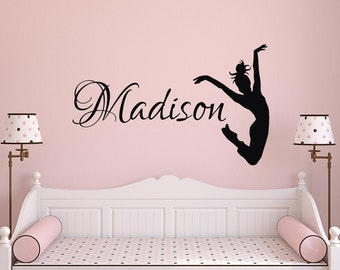 Beau Dance Name Wall Decal  Dance Wall Decal  Girl Name Wall Decal Girls Bedroom  Decor