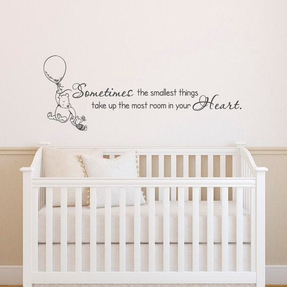 Classic Winnie The Pooh Wall Decals Quotes Sometimes The Smallest Things,  Winnie The Pooh And