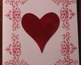 Red Velvet Card&Envelope