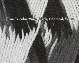 Silvia Tricolor Gradient Acrylic Yarn