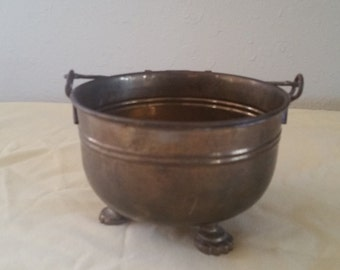 brass bucket with feet /brass bucket /brass bucket with handle