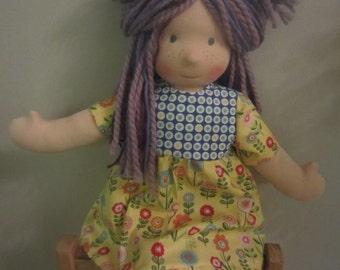 "Handmade Waldorfdoll Waldorf Inspired Cloth Wool Doll ""Lilli"" ***SALE***"