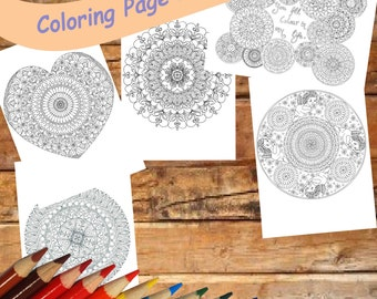 Love Coloring Page Detailed and Intricate Valentine