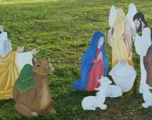 SALE !!!!! 10 Piece Christmas Nativity Set   Hand painted