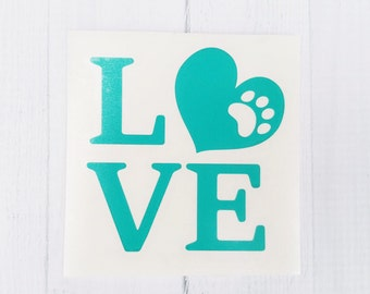 Love Dog Decal | Dog Decal | Dog Mom Decal | Dog Dad Decal Love decal | cup decal | car decal | iPhone decal | Yeti decal | laptop decal