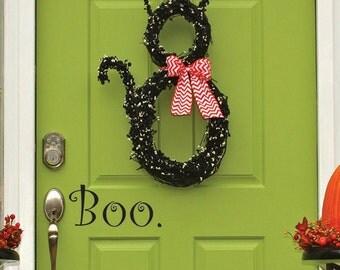 Halloween Door Decal | Boo Decal | Halloween Decor | Fall Door Decal | Fall Decor | Halloween Decoration | Halloween Party Decor
