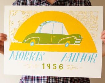 Morris Minor - A3 Screen Print