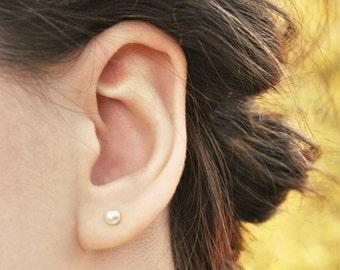Tiny Freshwater Pearl Earrings, Bridal Earrings, Freshwater Pearls, Pearl Stud Earrings, Wedding Earrings, Bridesmaids Earrings, Pearl Studs