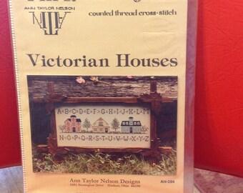 Victorian Houses.    Cross stitch pattern