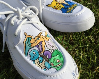 Hand Painted Pokemon Shoes