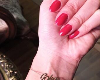 Custom Name Bracelet - Personalized Bracelet - Gold Name Bracelet - Silver Name Bracelet