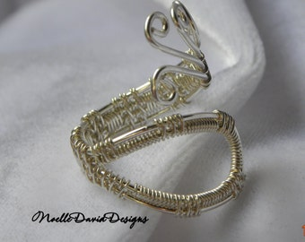 Sterling silver filled wire wrapped ring