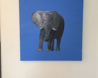 Elephant Painting (18'' x  18'' canvas)