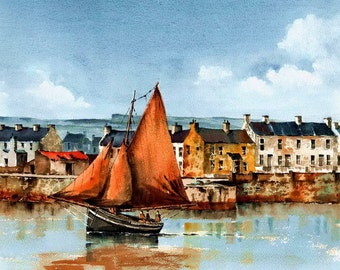 The Famaire leaving Kilronan Aran 13x19'' Giclee Print