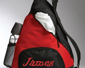 Personalized Active Sling Bag- Monogrammed Shoulder Bag- Sports Bag- Personalized With Name, Initials, Logo- Diaper Bag