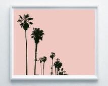 Palms Printable Art, Palm Modern Decor, Pink Palm Wall Decor, Palm Gift Idea, Summer Palm Decor, Surf Palm Decor, Relax Digital Art Palms