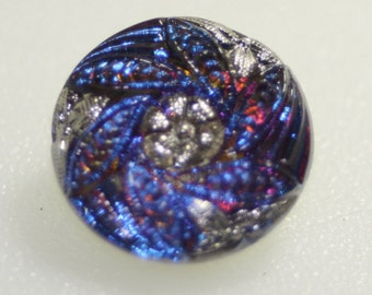 Czech Glass Button, Vintage Style, Small, 18mm