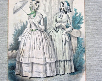 Le Follet 2 Woman Prints From Graham's Magazine