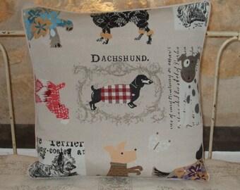 Dachshund cushion cover