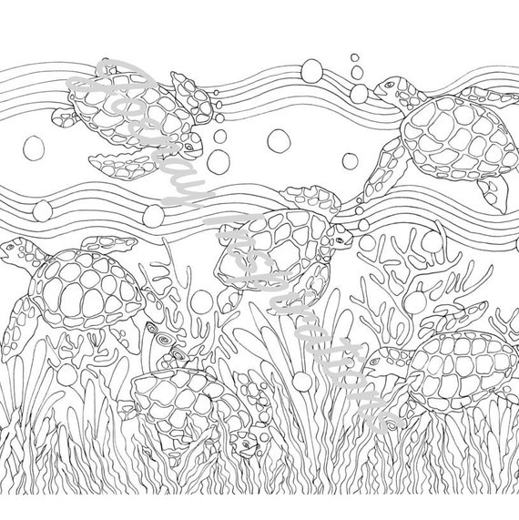 Adult Coloring Book, Printable Coloring Pages, Coloring Pages, Coloring Book for Adults, Instant Download, Treasures of the Ocean 1 page 13