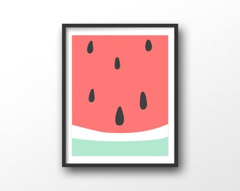 Watermelon poster | Etsy