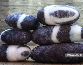 River Rock Floor Pillows : Stone Pillow Floor Cushion Rock Pebble Pillow Child by pebbleplush