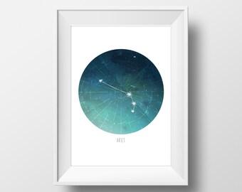 Aries Constellation Print