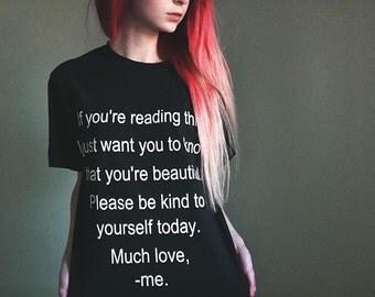 Self Harm Prevention/ Self Love Awareness T-Shirt :)