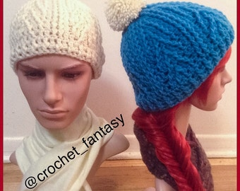 Cable Beanie w/without Pompom