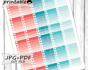 50% OFF SALE/June Monthly Color Ombre ChecklistPrintable Planner Stickers for Erin Condren Lifeplanner/June Monthly Stickers/Ombre Sticker