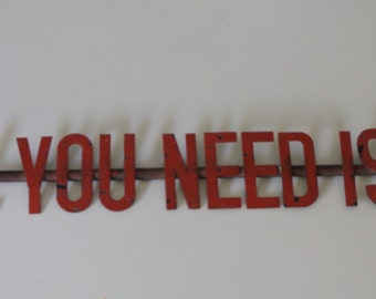 All You Need Is Love Antique Wall Decoration
